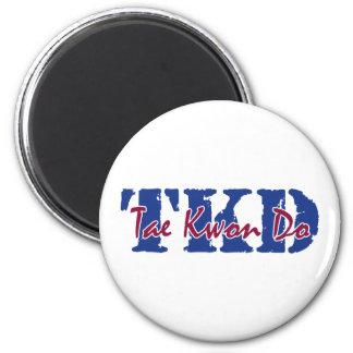 TKD Tae Kwon Do 2 Inch Round Magnet