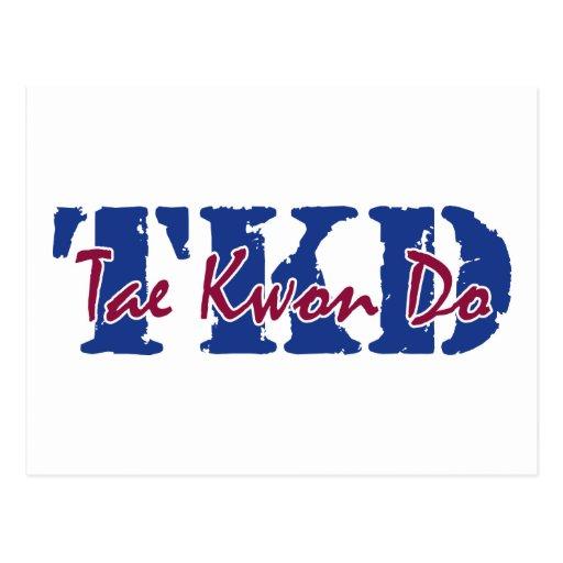 TKD Tae Kwon Do Post Card