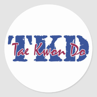 TKD Tae Kwon Do Round Stickers