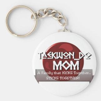 TKD TAEKWONDO MOM MOTTO BASIC ROUND BUTTON KEYCHAIN