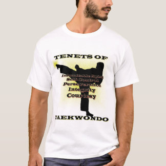 TKD Tenets Gold Accent T-Shirt
