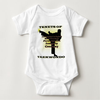 TKD Tenets Gold Highlight Baby Bodysuit