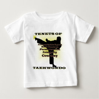 TKD Tenets Gold Highlight Baby T-Shirt