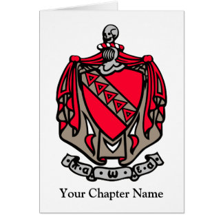 TKE Coat of Arms Greeting Cards