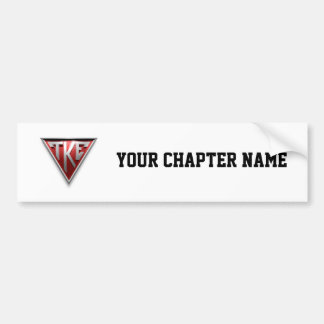 TKE Triangle Bumper Sticker
