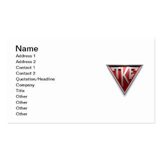 TKE Triangle Business Cards