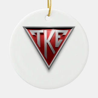 TKE Triangle Ceramic Ornament