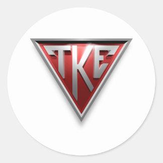 TKE Triangle Classic Round Sticker
