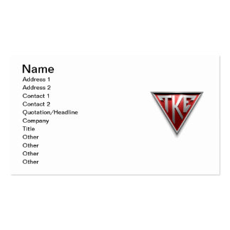 TKE Triangle Double-Sided Standard Business Cards (Pack Of 100)