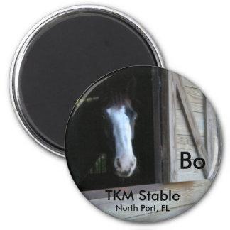 TKM Stable Souvenir Magnet - Bo