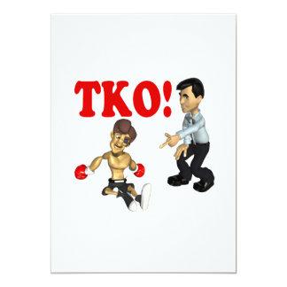 """TKO 3 INVITACIÓN 5"""" X 7"""""""