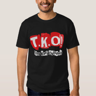 TKO:  Old Punk Style Black Tee Shirt