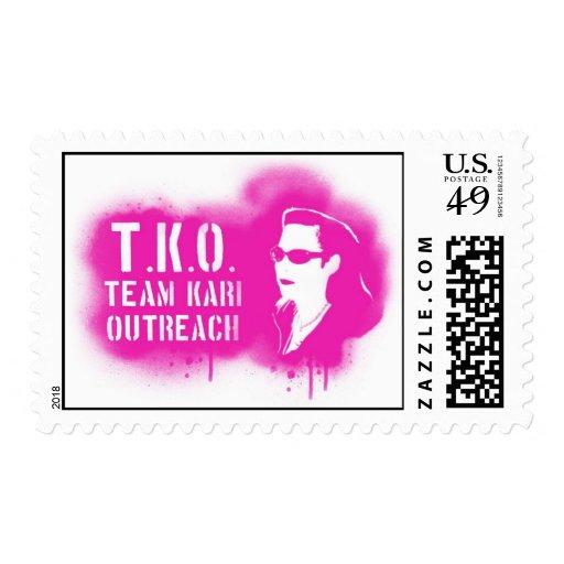 TKO - Pink Stencil Postage Stamp