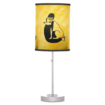 Wedding Themed TL - 005 - Lady and the Dog - Table Lamp