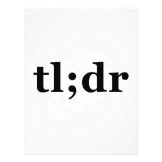 """TL;DR means """"Too Long; Didn't Read"""" Letterhead Template"""