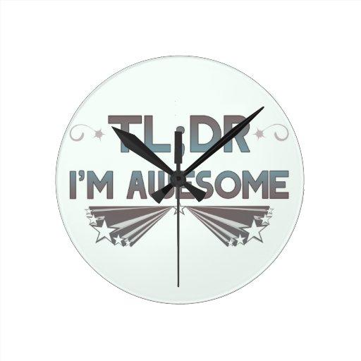 TL; Dr soy reloj de pared impresionante - personal
