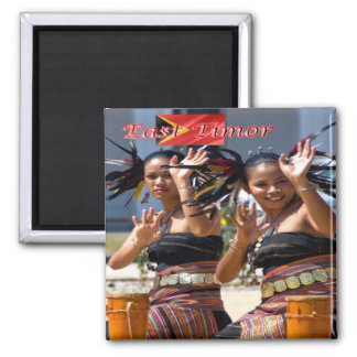 TL - East Timor - Timorese Dancers 2 Inch Square Magnet