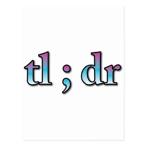 """TL: El dr """"demasiado de largo, no leyó """" Tarjetas Postales"""
