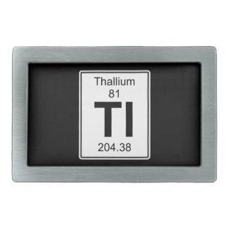 Tl - Thallium Rectangular Belt Buckle