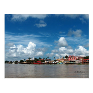 Tlacotalpan from the Rio Papaloapan Postcard