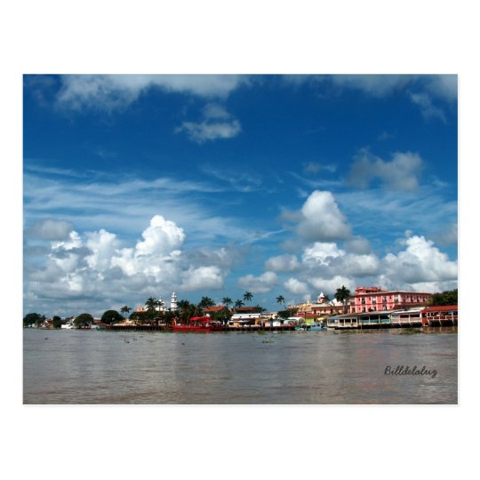 Tlacotalpan from the Rio Papaloapan Postcard