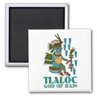 Tlaloc 2 Inch Square Magnet