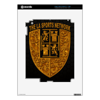 TLASN Gold Floral Shield Logo iPad 2 (Wi-Fi/Wi-Fi) Decals For The iPad 2
