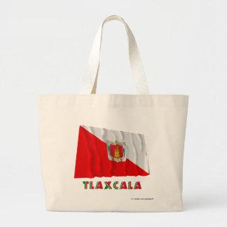 Tlaxcala que agita la bandera semioficial bolsa