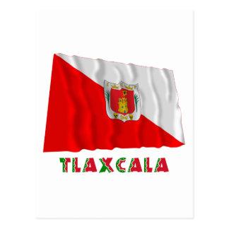 Tlaxcala que agita la bandera semioficial postal