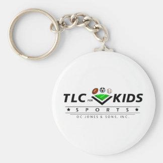 TLC For Kids Basic Round Button Keychain
