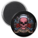 TLC Nurse Skull 2 Inch Round Magnet