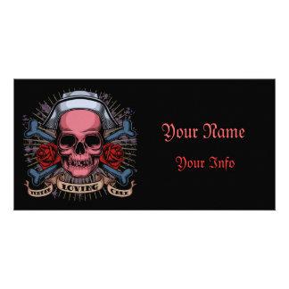 TLC Nurse Skull Card