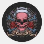 TLC Nurse Skull Stickers