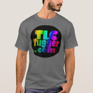TLC Tugger Logo - rainbow in black oval T-Shirt