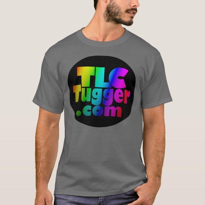TLC Tugger Logo - rainbow in black oval T-Shirt