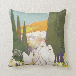 Tlemcen Vintage Travel Poster Throw Pillow