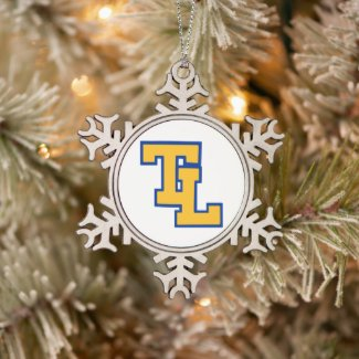 TLHS SNOWFLAKE PEWTER CHRISTMAS ORNAMENT