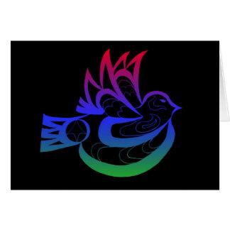 Tlingit indio del noroeste pacífico de la paloma d felicitacion