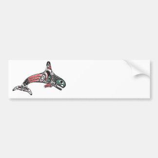 Tlingit Killer Whale & Eagle Bumper Sticker
