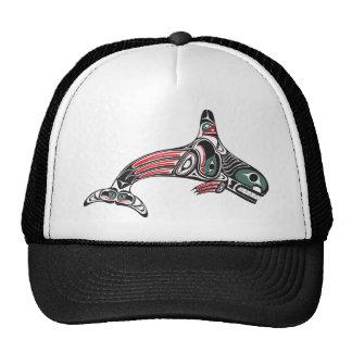 Tlingit Killer Whale & Eagle Mesh Hat