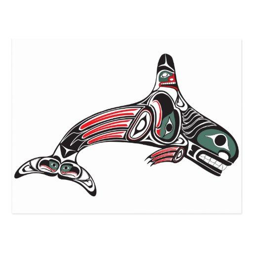 Tlingit Killer Whale & Eagle Postcards