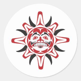 Tlingit Sun Stickers