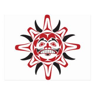 Tlingit Sun Tarjeta Postal