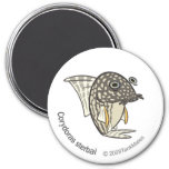 TM-08-Corydoras sterbai 3 Inch Round Magnet