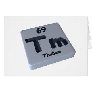Tm Thulium Card