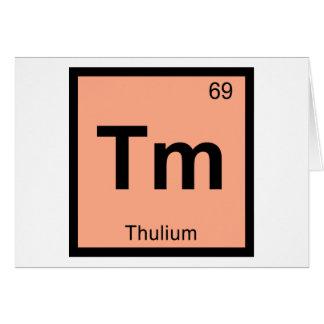 Tm - Thulium Chemistry Periodic Table Symbol Card