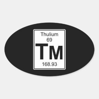 Tm - Thulium Oval Sticker