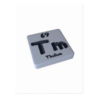 Tm Thulium Postcard