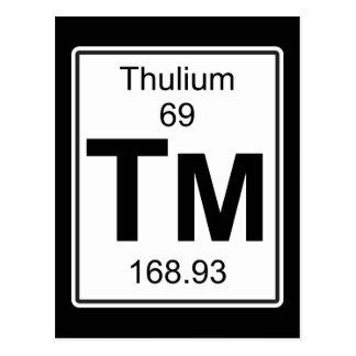 Tm - Thulium Postcard