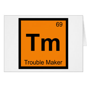 Maker symbol gifts on zazzle tm trouble maker chemistry periodic table symbol urtaz Gallery